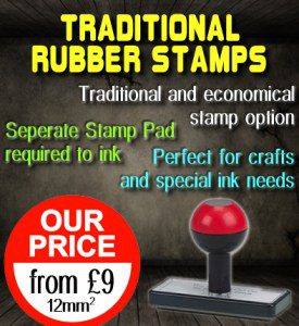 Rubber Stamp Shops Birmingham offers traditional rubber stamps from just £9.
