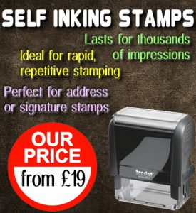 Rubber Stamp Shops Birmingham offers Self Inking Stamps from just £19.